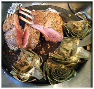 lamb chops with artichokes